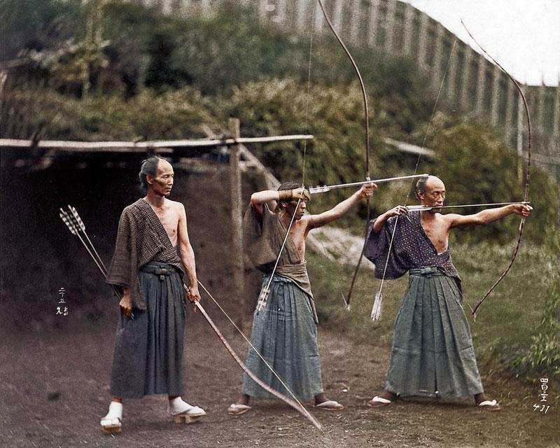 kyudoka-japanese-archers-c1860-photo-chopshop