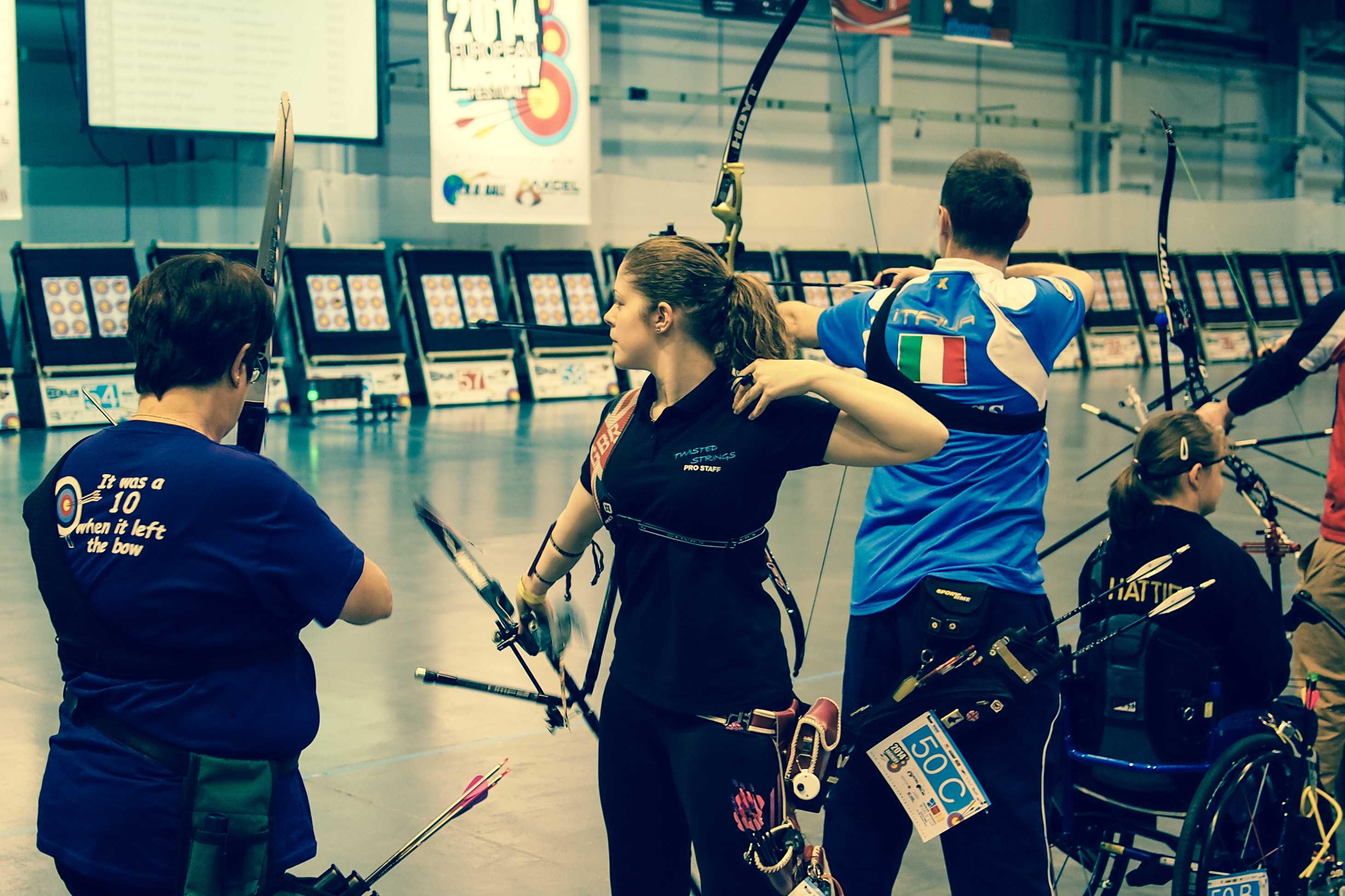 Becky Martin. 2014 European Archery Festival. © 2014 The Infinite Curve