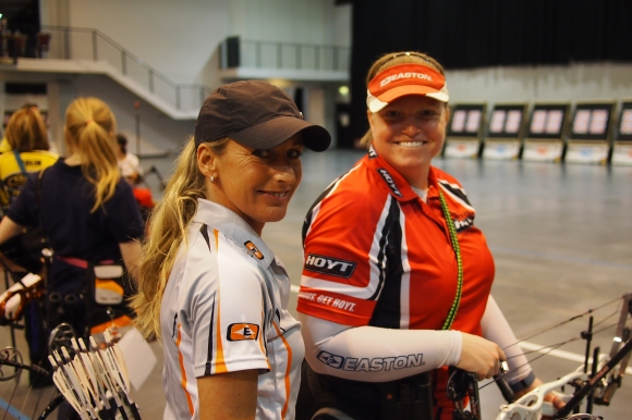 Vanessa Elzinga and Jamie Van Natta. 2014 European Archery Festival. © 2014 The Infinite Curve