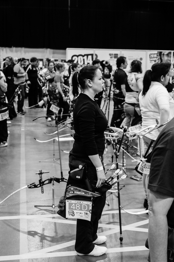 Eliska.  Qualification 'D' at the 2014 European Archery Festival. © 2014 The Infinite Curve