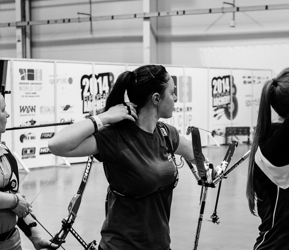 Qualification 'D' at the 2014 European Archery Festival. © 2014 The Infinite Curve