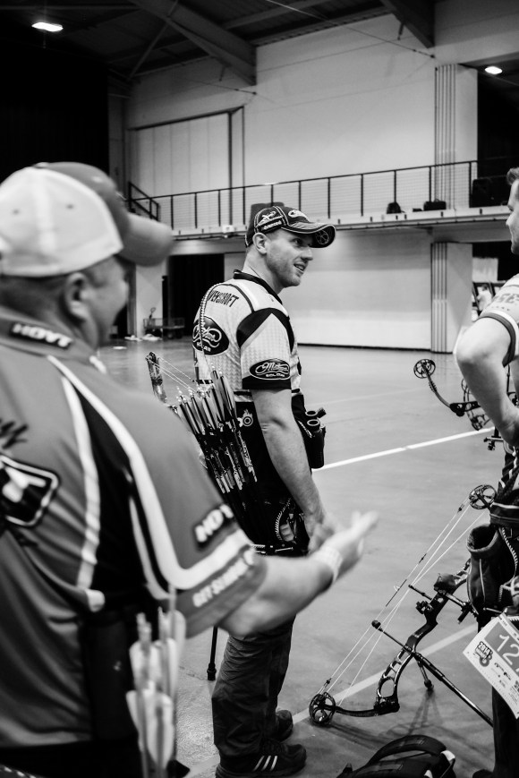 Reo Wilde & Adam Ravenscroft at the 2014 European Archery Festival. © 2014 The Infinite Curve