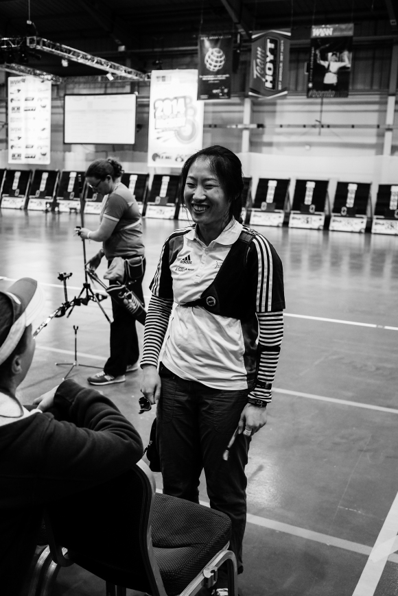 Songi Woo. Recurve shootdown at the 2014 European Archery Festival. © 2014 The Infinite Curve
