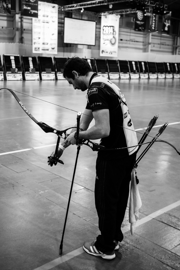 Thomas Faucheron. Recurve shootdown at the 2014 European Archery Festival. © 2014 The Infinite Curve