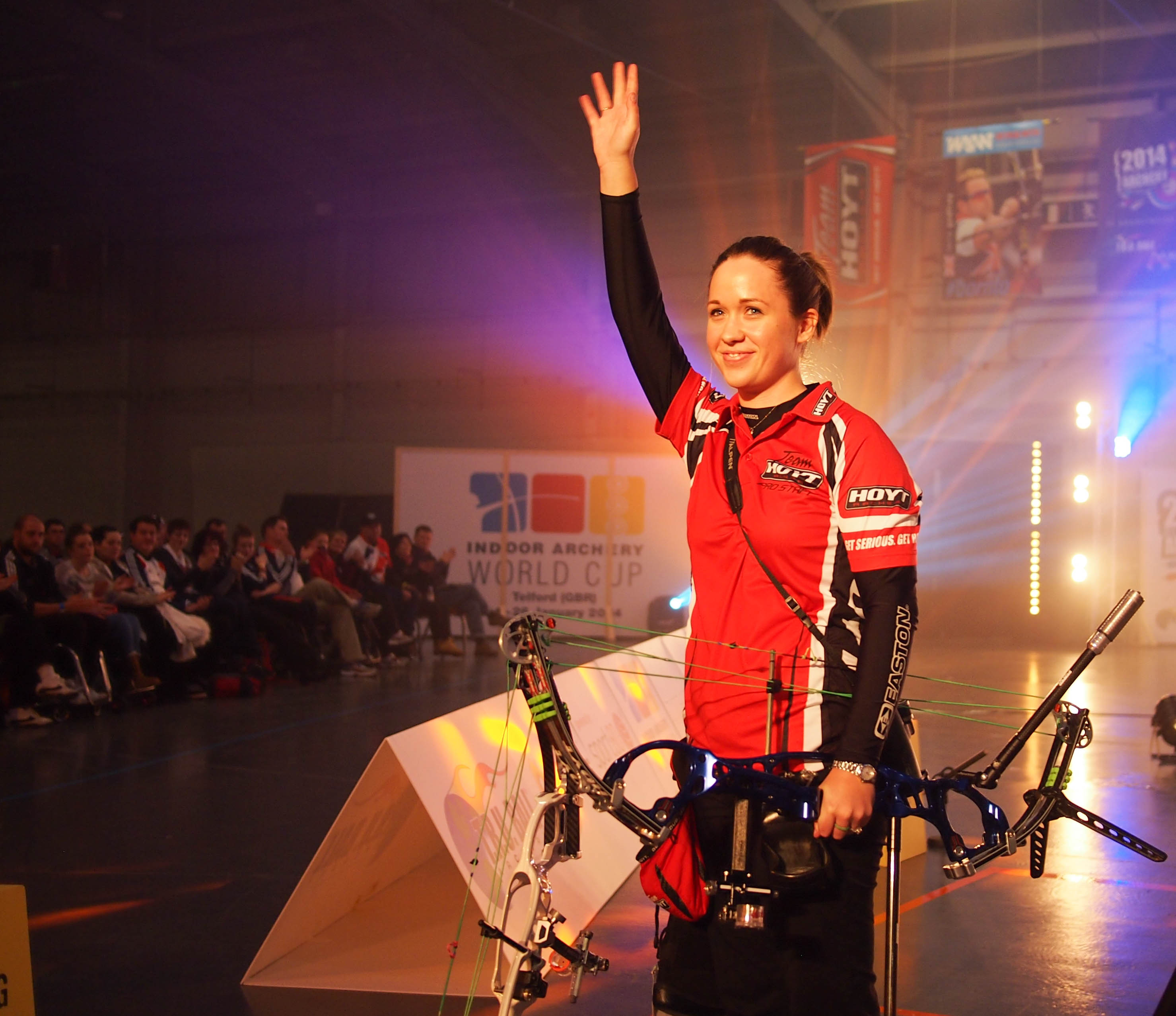 Erika Jones at the 2014 European Archery Festival. © 2014 The Infinite Curve