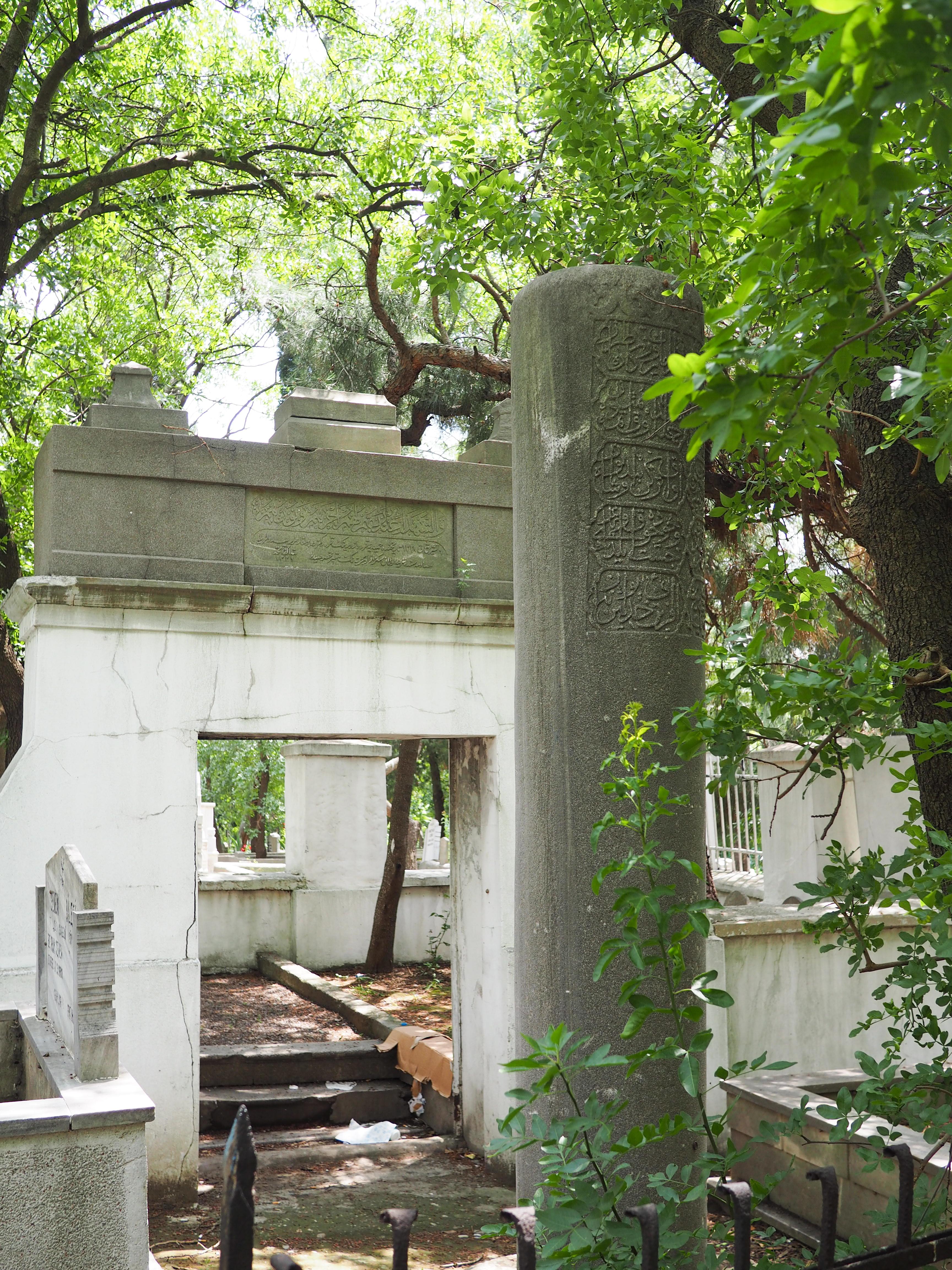 Kaliksiz Cemetery target stone